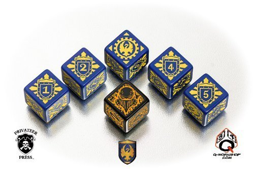 Q workshop WARMACHINE Cygnar Faction Dice Set (6)