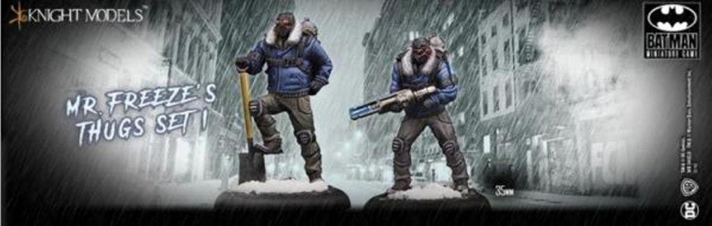 Batman Miniature Mr.Freeze and thugs set 1