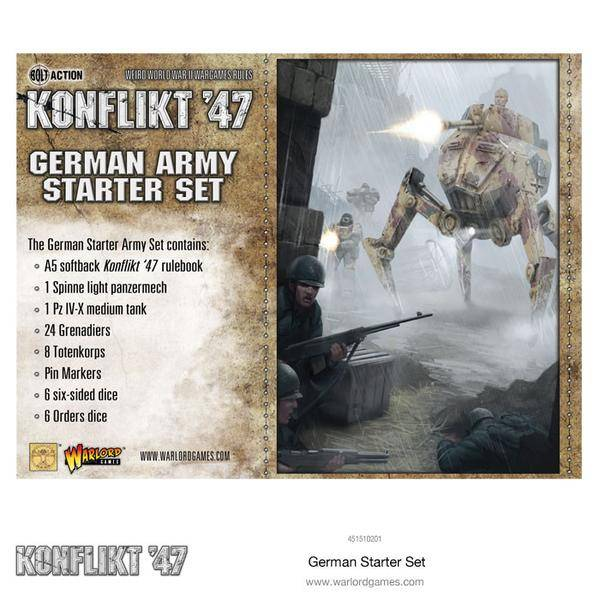 Warlord games Konflikt '47: German- Army Starter Set