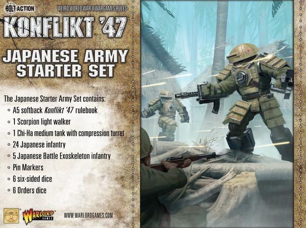 Warlord games Konflikt '47: Japanese- Army Starter Set