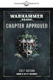 Games Workshop Warhammer 40K Chapter Approved: 2017 Edition