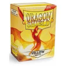Arcane Tinmen Dragon Shields: (100) Matte, Yellow