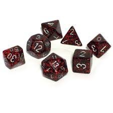Chessex Chessex Speckled: Poly Silver Volcano (7) DICE