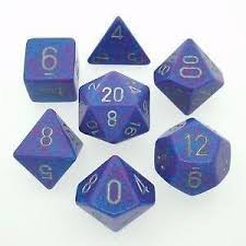 Chessex Chessex Speckled: Poly set, Golden Cobalt (7) DICE
