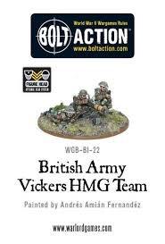 Warlord games Bolt Action: British- Army Vickers HMG Team