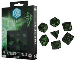 Q workshop Ingress enlightened dice set