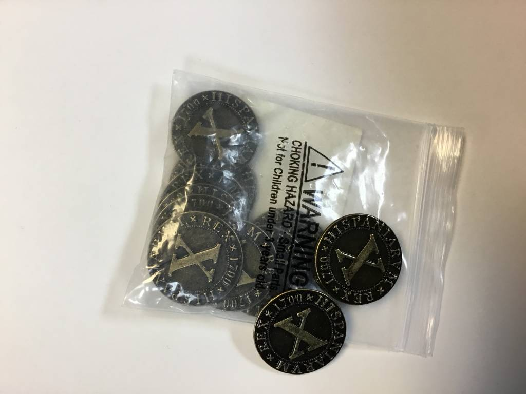 Artana Artana Metal coins: pirate doubloons 25mm (12ct)