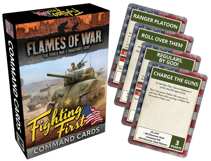 Flames of War FOW : Fighting First Command Cards