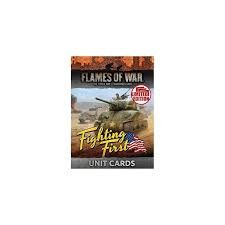 Flames of War FOW : Fighting First Unit Cards