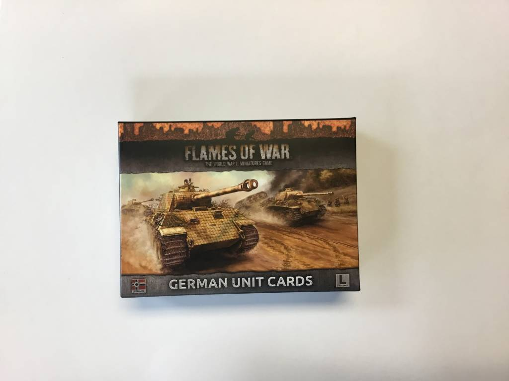 Flames of War FOW : Unit Cards German