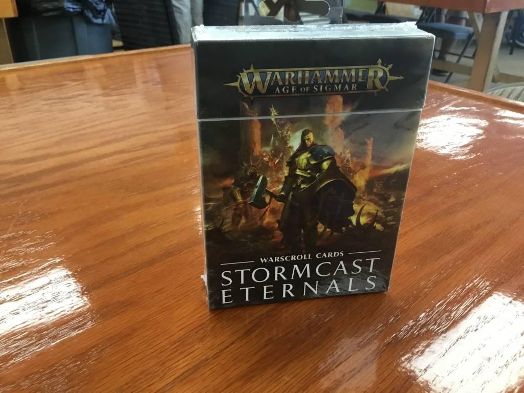 Games Workshop WH 40k Sigmar: Warscroll Cards- Stormcast Eternals