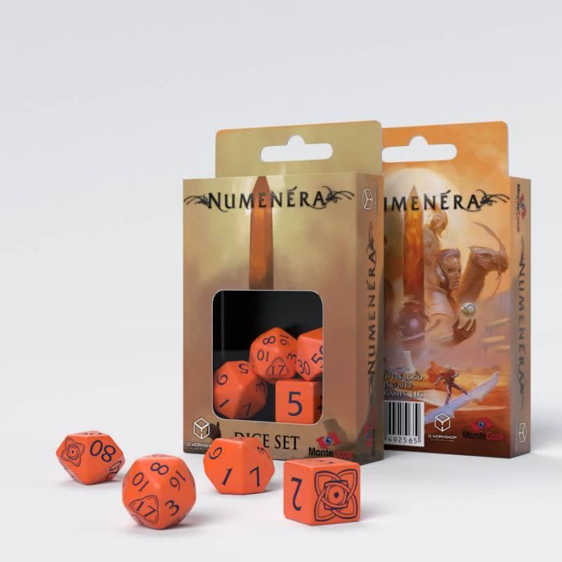 Q workshop Numenera RPG dice set