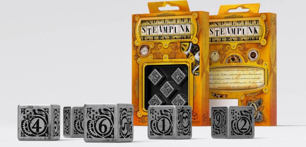 Q workshop D6 Metal Steampunk Dice (5)