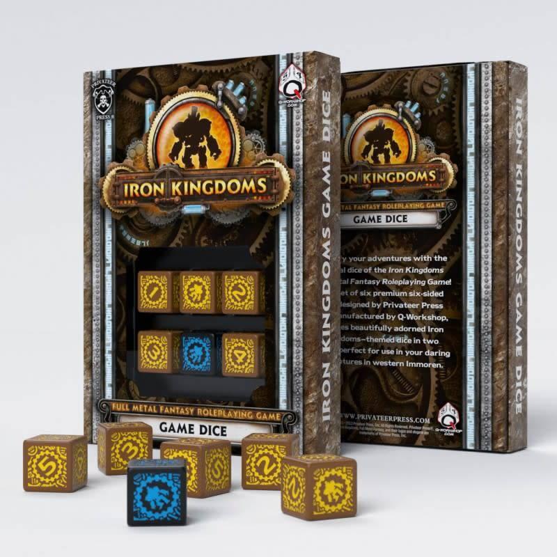 Q workshop Iron Kingdoms RPG dice set