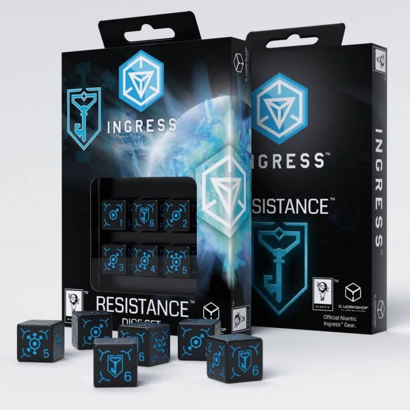 Q workshop Ingress Resistance dice set d6