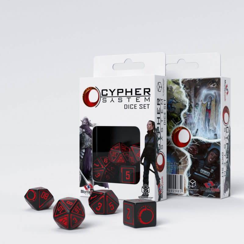 Q workshop Cypher System dice set