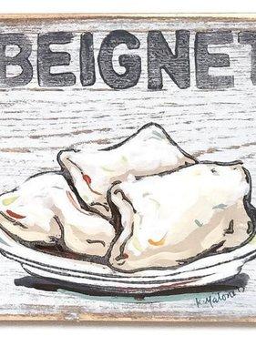 Beignet Wood Sign