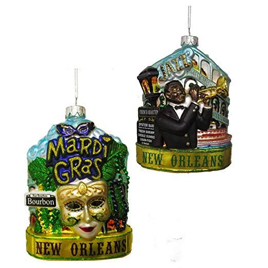 New Orleans Christmas Ornaments.Christmas Ornament Glass New Orleans Cityscape 5