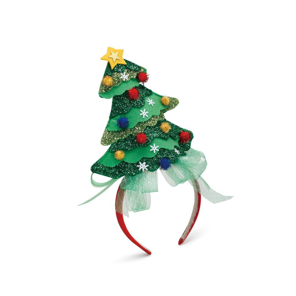 Christmas, Headband, Christmas Tree Pom - Fleurty Girl