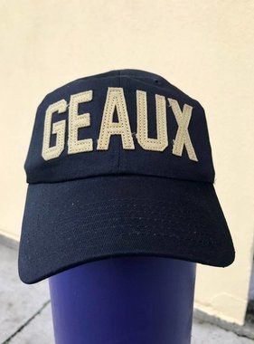 Black & Gold GEAUX Baseball Cap