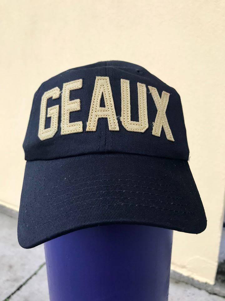 ddccc07c9b4b6a Hat, GEAUX Baseball Cap, Black & Gold - Fleurty Girl
