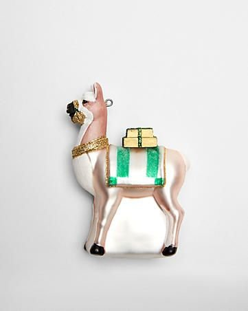 Glass Llama Ornament