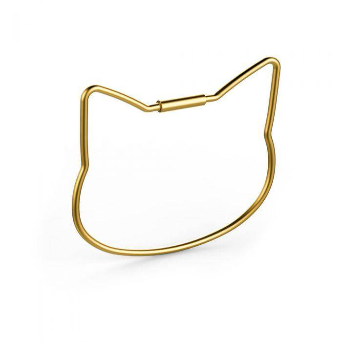 Gold Cat Keyring