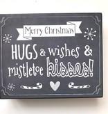 Mistletoe Kisses Contemporary Sign