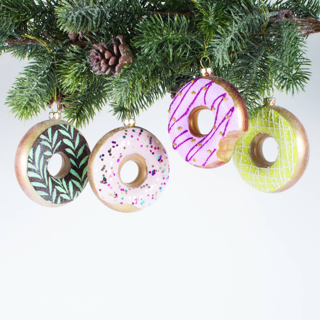 Donuts Ornament, 4 pack