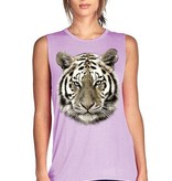 Foil Tiger Head Tank, Purple