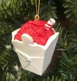 Red Snoball in Box Ornament