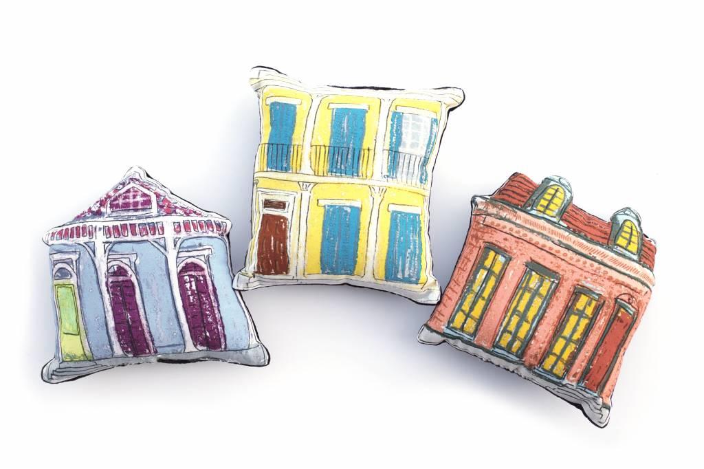 Blue Creole Cottage Pillow
