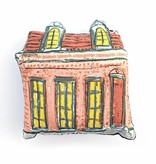 Peach Creole Cottage Pillow
