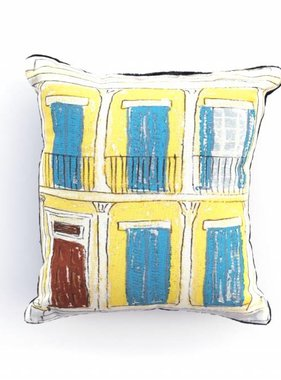 Yellow Creole Cottage Pillow