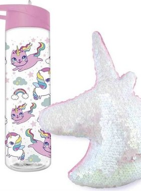 Unicorn Pillow & Water Bottle Gift Set