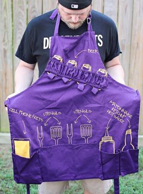 Nola Tawk Tailgate Apron, Purple and Gold