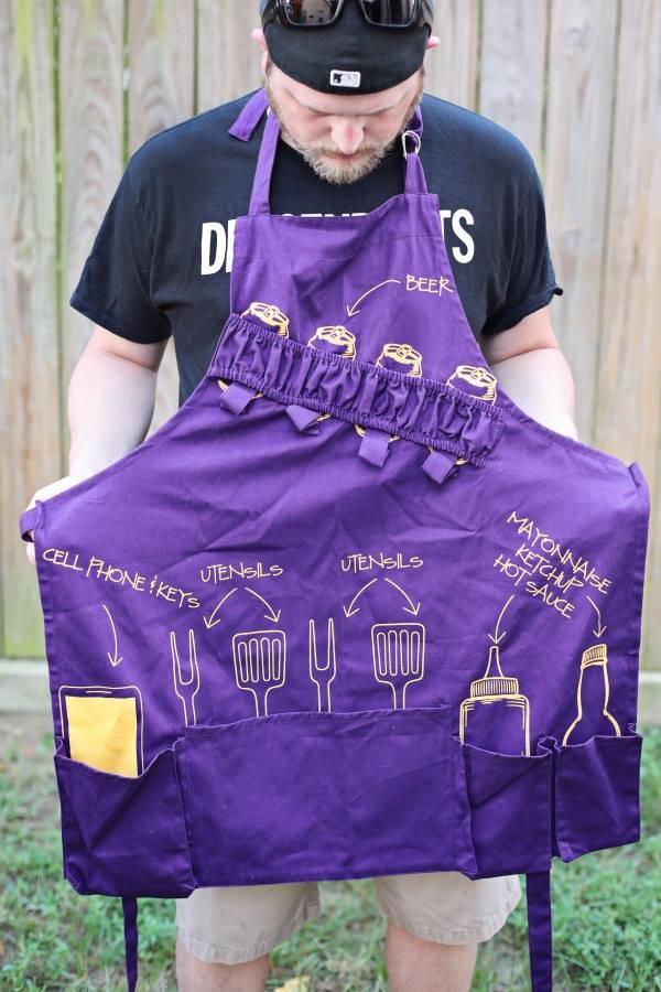 Nola Tawk Tailgate Apron, Purple and Gold