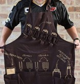 Nola Tawk Tailgate Apron, Black and Gold