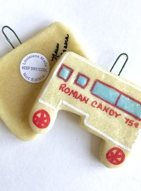 Roman Candy Wagon Salt Dough Ornament