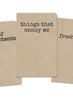 Grump Notebook, Set of 3