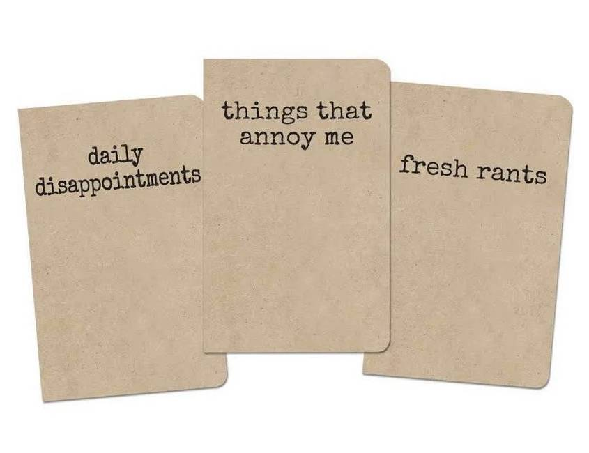 Grump Notebook, Set of 3