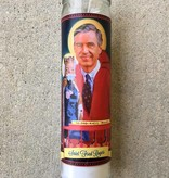 Mr Rogers Saint Candle