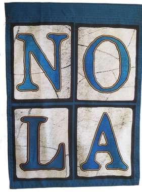 Blue NOLA Garden Flag