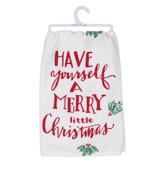 Primitives by Kathy Have Yourself Christmas Towel