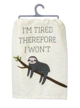 Primitives by Kathy I'm Tired Towel