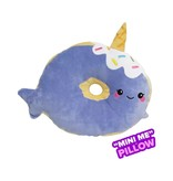Mini Narwhal Donut Vanilla Scented Pillow
