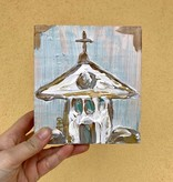 Covered With Paint Gold Church Wall Art, 6x6