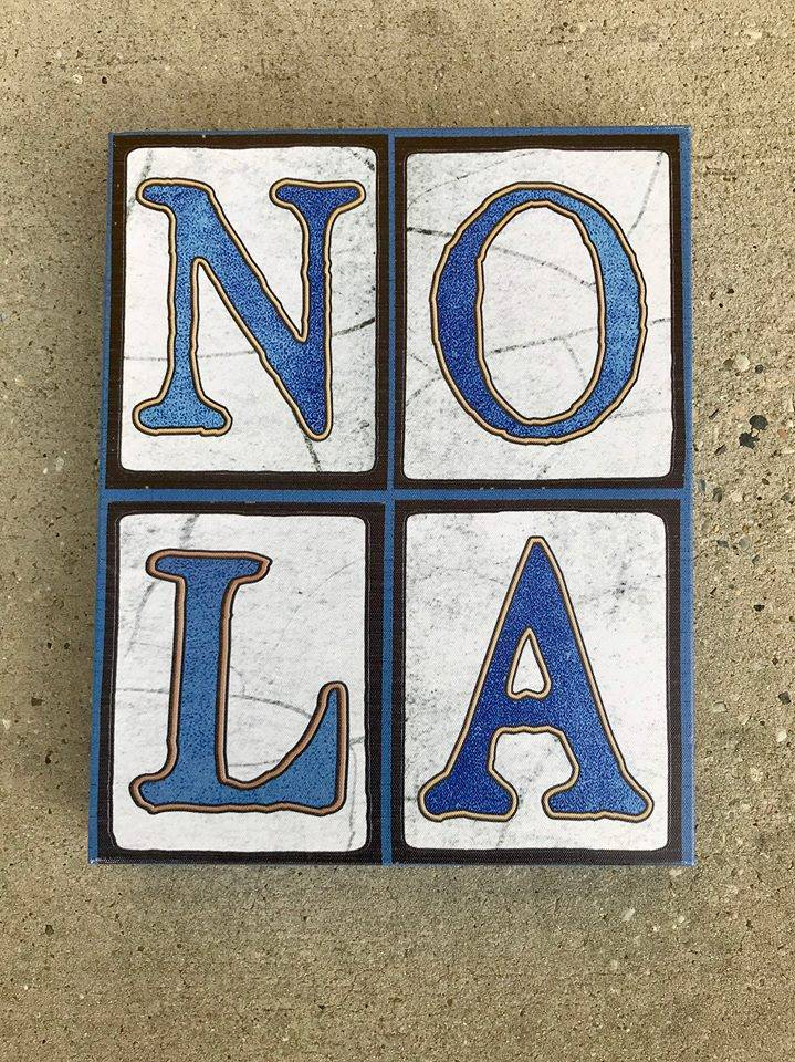Blue NOLA Canvas