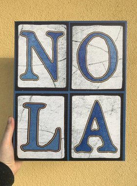 Blue NOLA Canvas