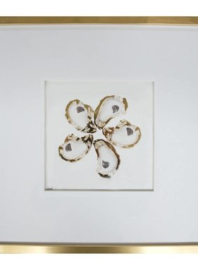 Gold Oysters Wall Art